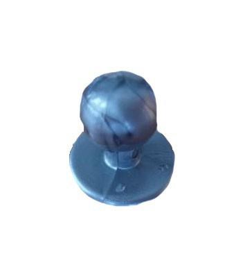 Ezüst utánzat színű szakácskabát gomb 12db