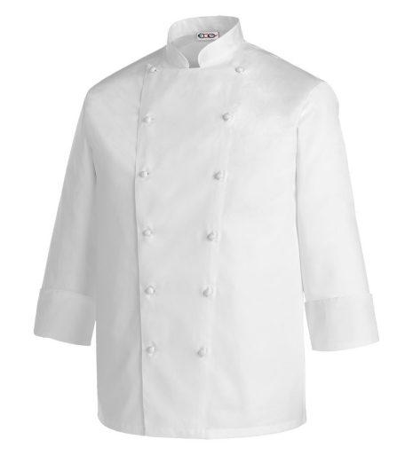 5XL-6XL-es szakácskabát - fehér, 100% pamut