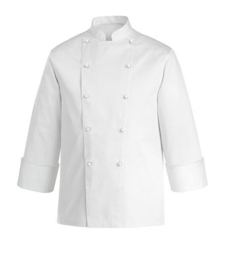 Szakácskabát-cukrász kabát-fehér-hosszú ujjú-100% pamut -EGOCHEF
