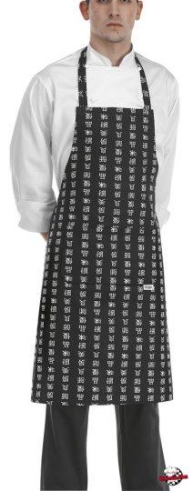 Kötény - kínai írásjel mintákkal