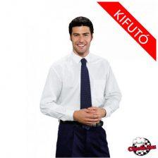 Di Carlo fehér, hosszú ujjú ing
